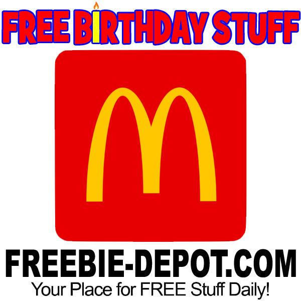 BIRTHDAY FREEBIE – McDonald's