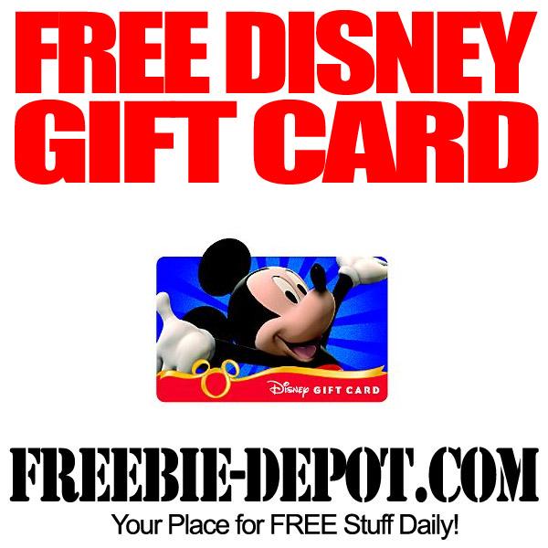 FREE $50 Disney Gift Card