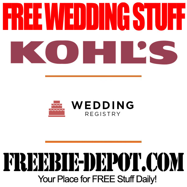 Free wedding stuff kohl s registry gifts for Home depot wedding gift registry