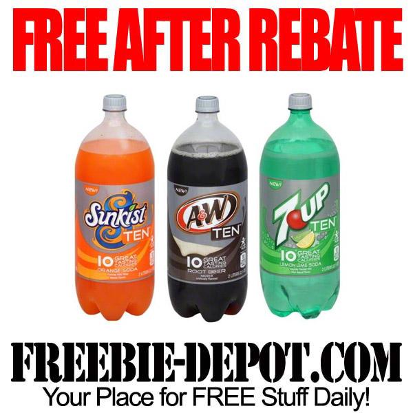 FREE AFTER REBATE – Ten Soda 2 Liter