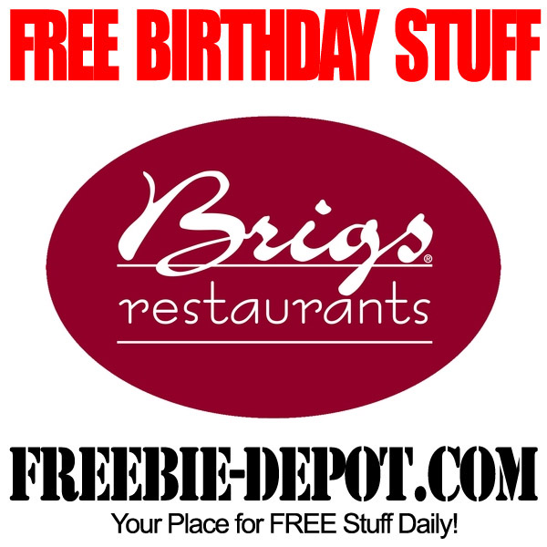Free Birthday Meal at Brigs
