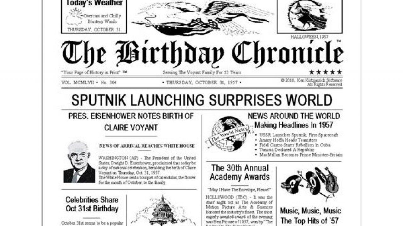 BIRTHDAY FREEBIE – My Birthday Chronicle X | Freebie Depot