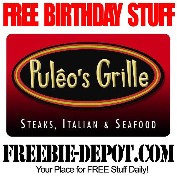 BIRTHDAY FREEBIE – Puleo's Grille