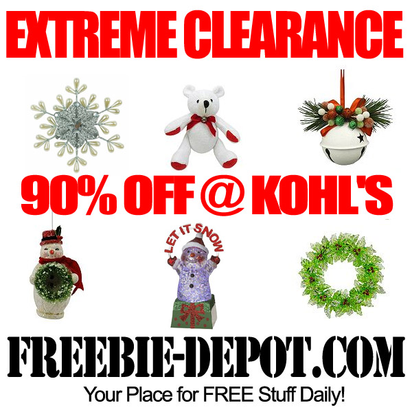 EXTREME CLEARANCE – 90% OFF Christmas @ Kohl's