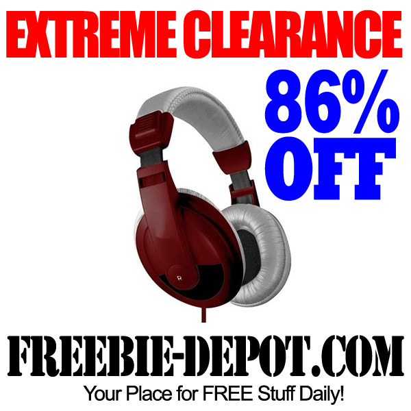EXTREME CLEARANCE – Headphones 86% OFF