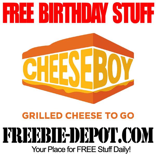 BIRTHDAY FREEBIE – Cheeseboy – FREE BDay Reward