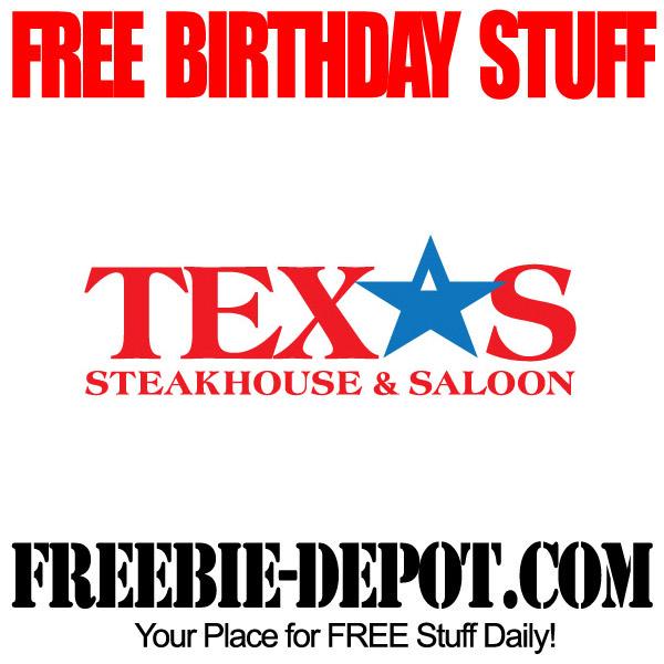 Free Birthday Texas Steakhouse