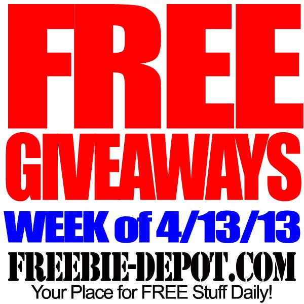FREE Giveaways – Week of 4/13/13