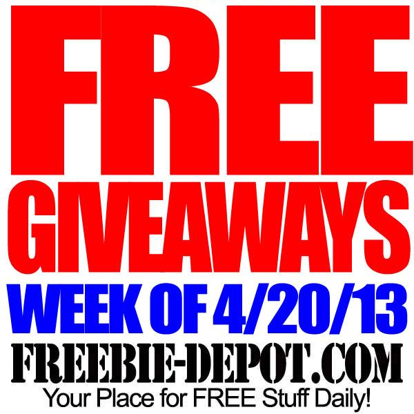 FREE Giveaways – Week of 4/20/13