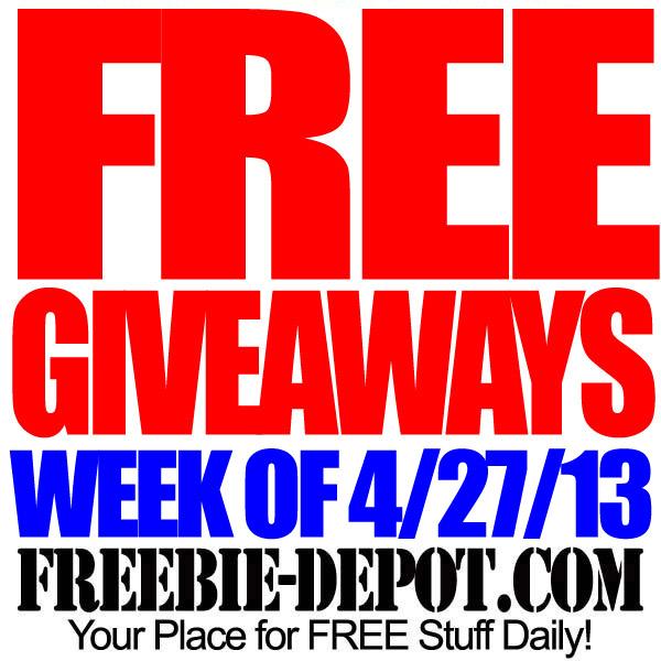 FREE Giveaways – Week of 4/27/13