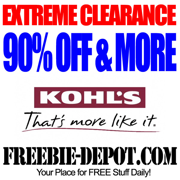 EXTREME CLEARANCE – 90% OFF & More at Kohl's