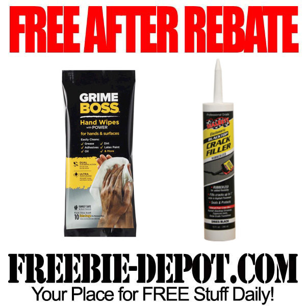 FREE AFTER REBATE – Wipes and Filler