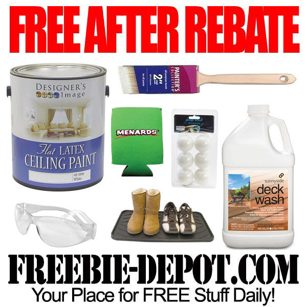 FREE AFTER REBATE – Paint, Brushes & More