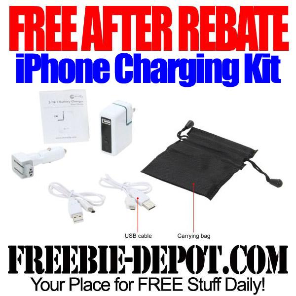 FREE AFTER REBATE – iPhone Charging Kit