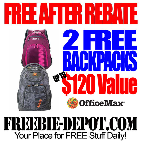 Free After Rebate Back Packs