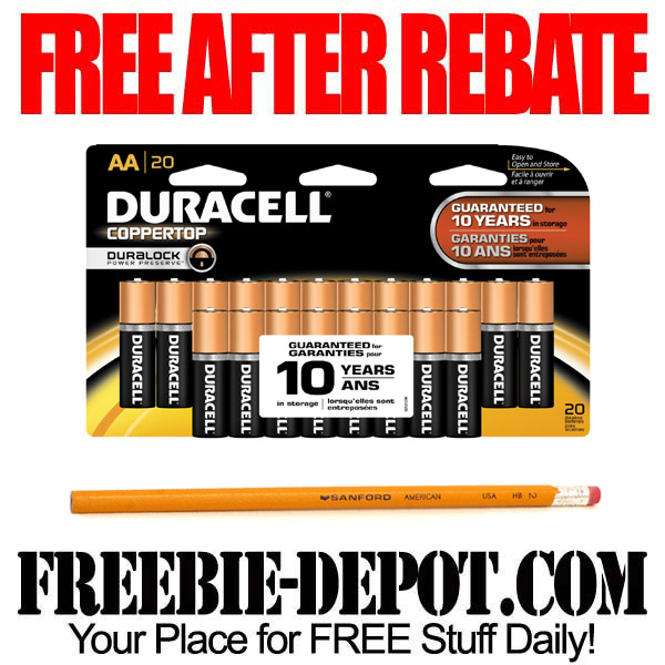 Free After Rebate Batteries & Pencil