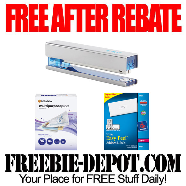 Free After Rebate Paper & Staplers