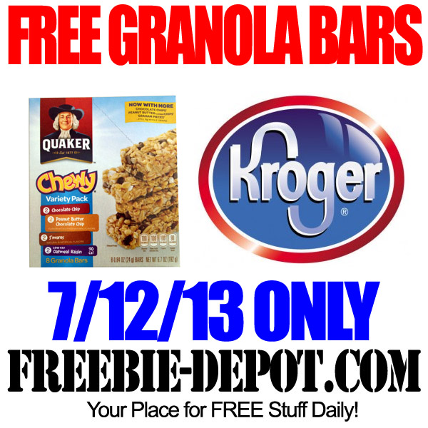 Free Granola Bars Kroger