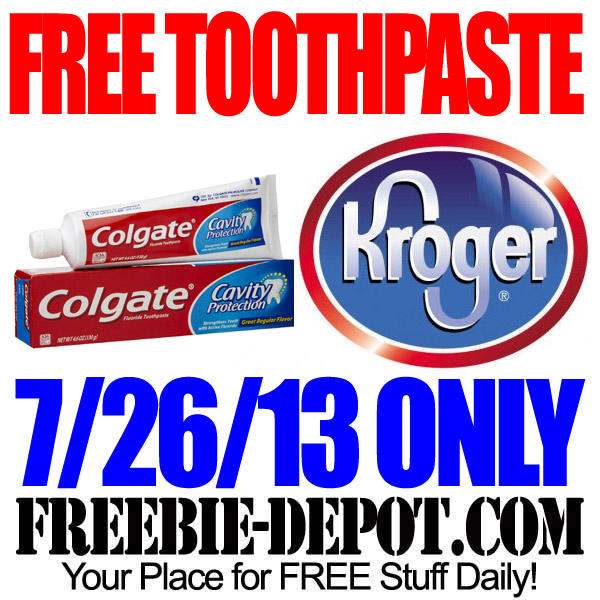 Free Toothpaste at Kroger