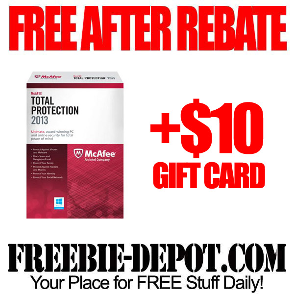 Free After Rebate $10 + McAfee Software