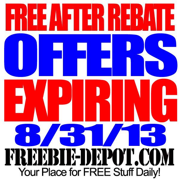 FREE AFTER REBATE – Expiring 8/31/13