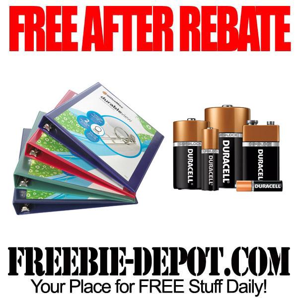 Free After Rebate Binders and Batteries