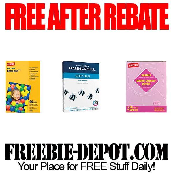 Free After Rebate Paper Trio