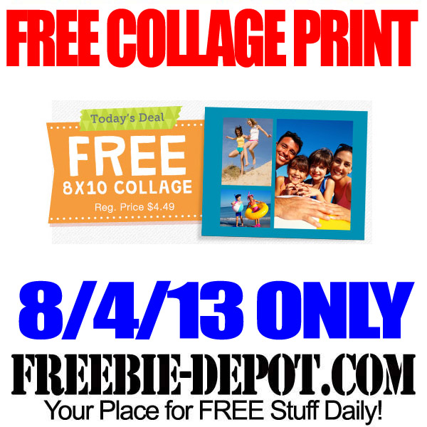 Free Collage Print at Walgreens