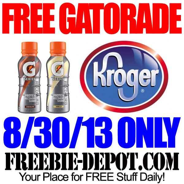 Free Gatorade from Kroger