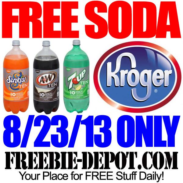 Free Soda at Kroger