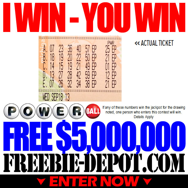 FREE Lottery Money – $5 Million!