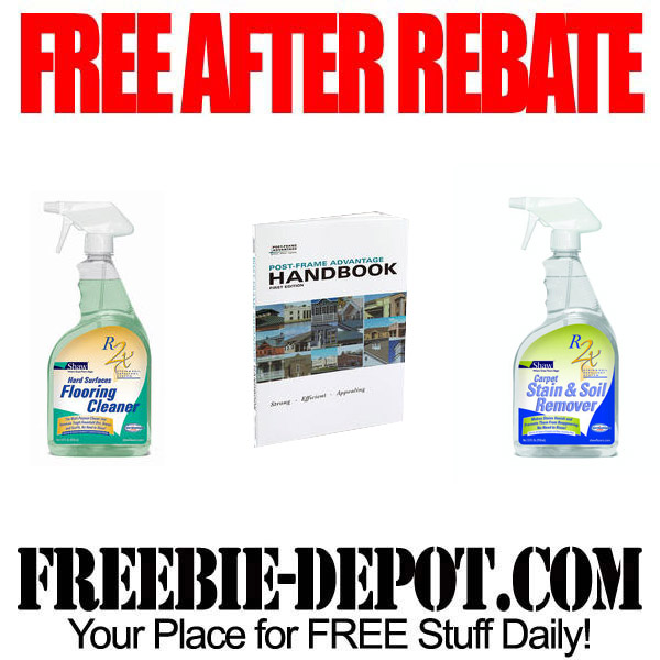 free after rebate floor cleaner book freebie depot. Black Bedroom Furniture Sets. Home Design Ideas