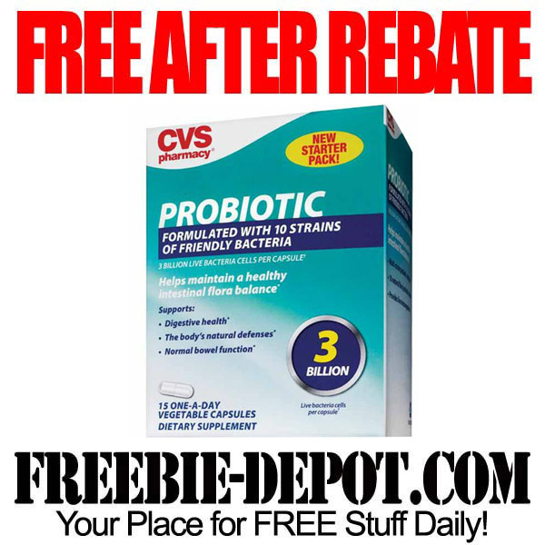 free after rebate  u2013 probiotic at cvs