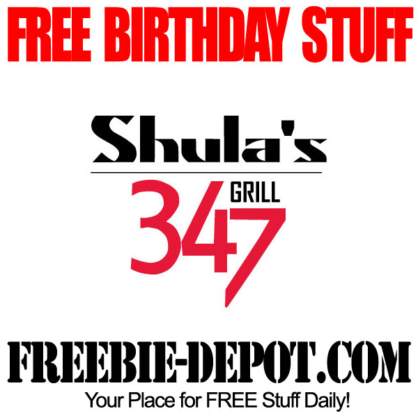 Free Birthday Shula's 347 Grill