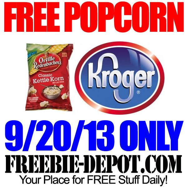 Free Popcorn at Kroger