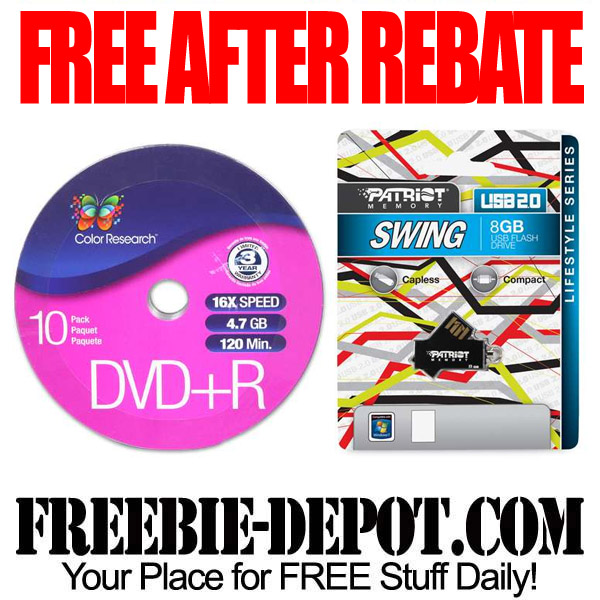Free After Rebate DVDs & USB Drives