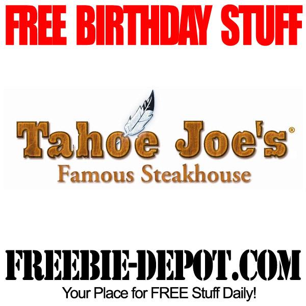 Free Birthday Tahoe Joes