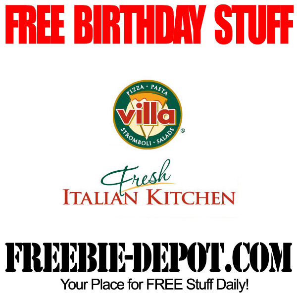 Free Birthday Villa Pizza
