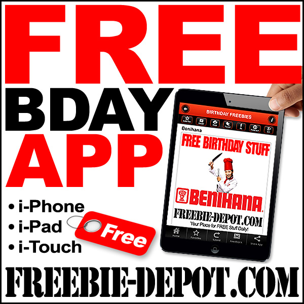 Free Birthday Freebie App From Freebie Depot