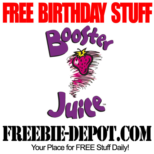 Free Birthday Smoothie at Booster Juice