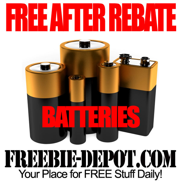 FREE AFTER REBATE – Batteries – Stock up!