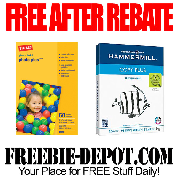 FREE AFTER REBATE – Copy & Photo Paper at Staples