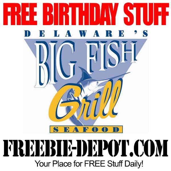 Birthday freebie big fish restaurant group freebie depot for Big fish seafood bistro