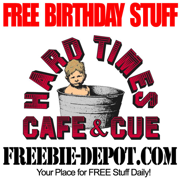 FREE Birthday Meal at Hard Times Cafe