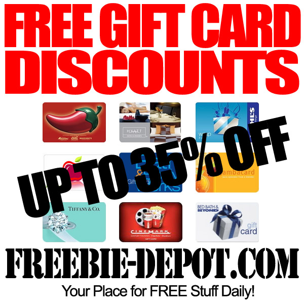 FREE Gift Card Discounts
