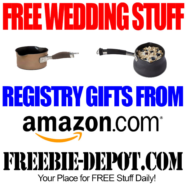 Free wedding stuff amazon registry gifts freebie depot for Home depot wedding gift registry
