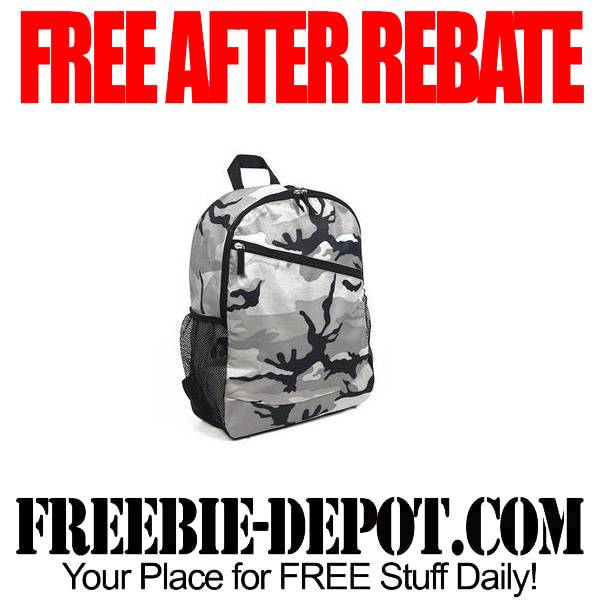 Free After Rebate Backpack Camo