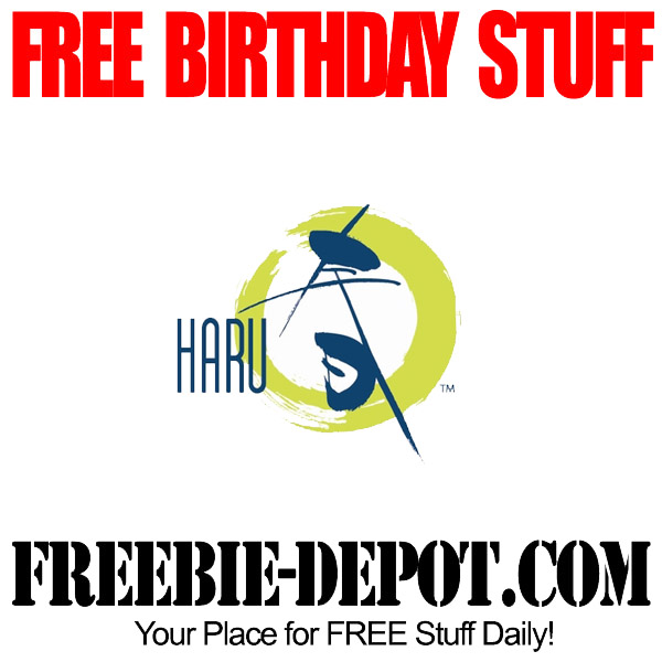 FREE Birthday Japanese Sushi