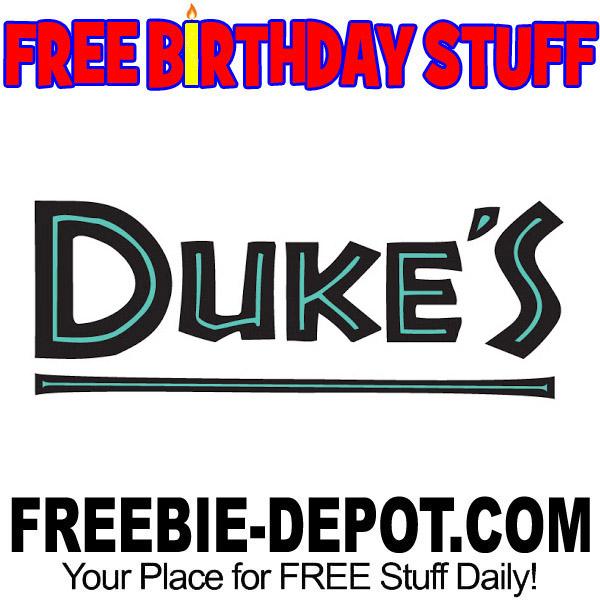 FREE BIRTHDAY STUFF – Duke's