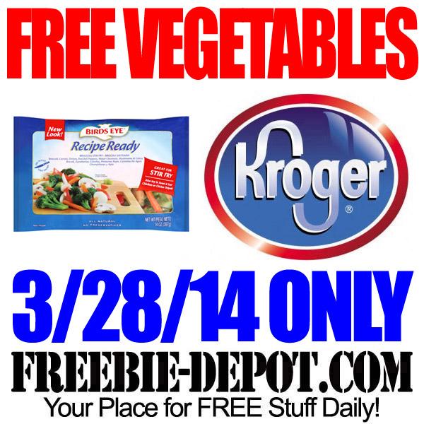 FREE Vegetables from Kroger